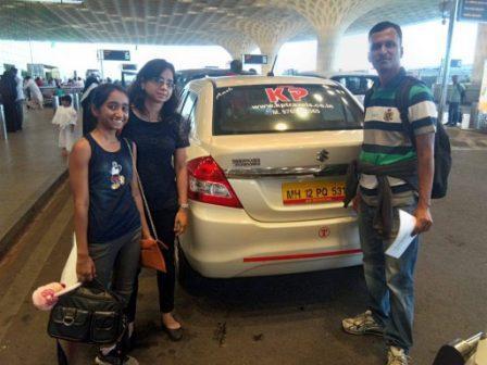 Pune to Mumbai Airport cab family passenger